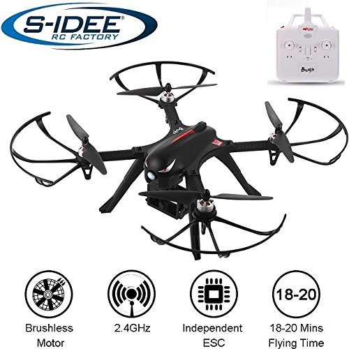 s-idee® 01658 Bugs 3 Drohne Brushless Motoren MJX Serie Quadrocopter Control Distance, bis zu 20 min